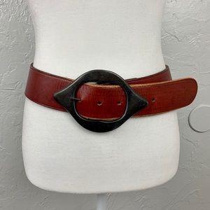 Joan & David leather statement belt size S/M